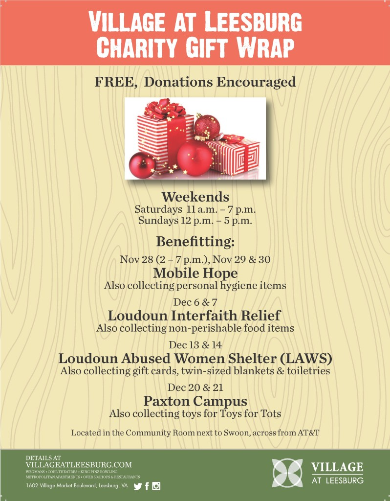 Holiday Gift Wrap Flyer