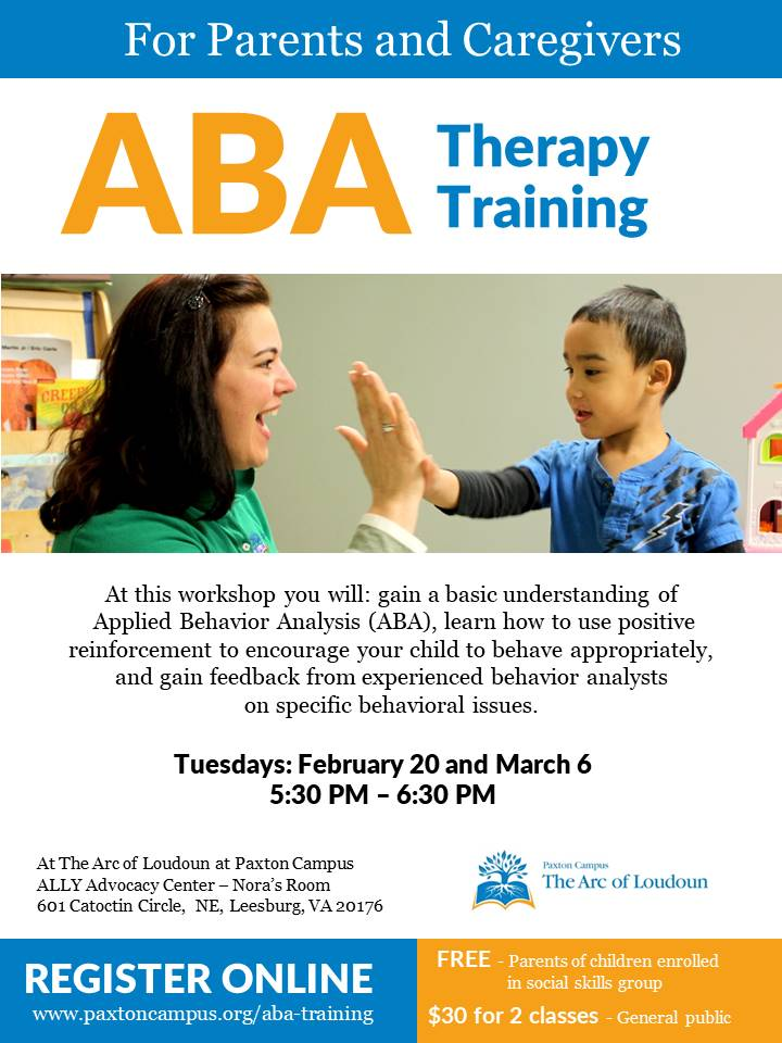 applied behavior analysis aba therapy training parents caregivers