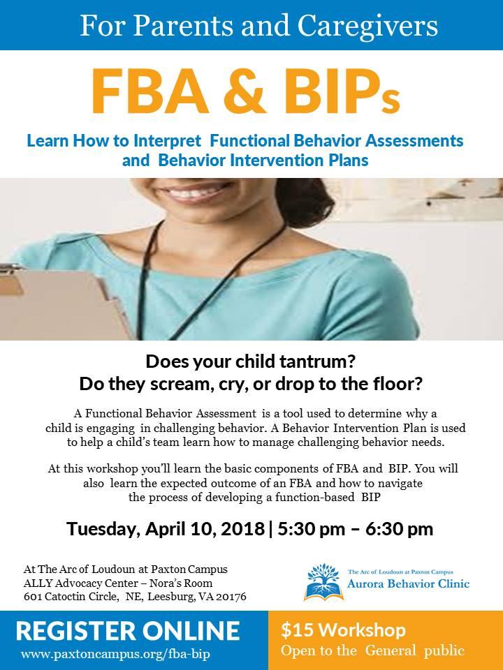 FBA and BIP workshop parents functional behavior assessment behavior intervention plan